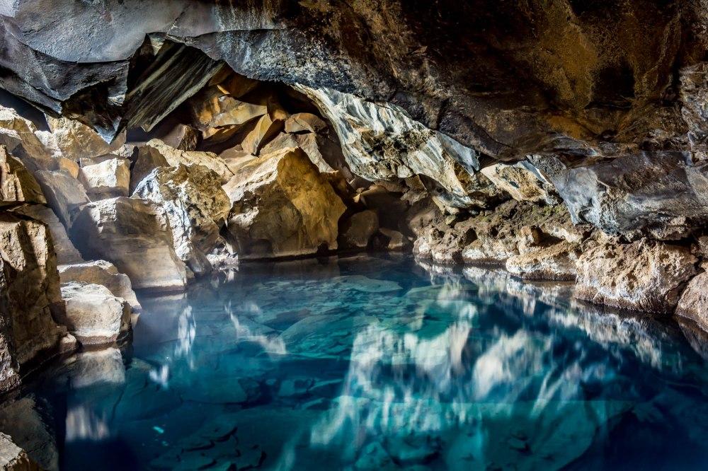 Underground Reflections of Light - Grjótagjá, Iceland